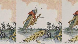 Fábula de la cigarra y la hormiga